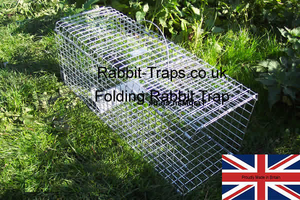 folding rabbit trap from the trap man